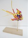 Angelfish by Marc Heaton, Sculpture, Found Beach Plastic
