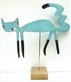 Blue Cat by Marc Heaton, Sculpture