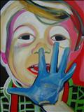 Blue hand by Marc Heaton, Painting, Acrylic on canvas