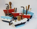 Boats by Marc Heaton, Sculpture, Wood&Tools