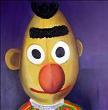 Burt soft toy 1978 by Marc Heaton, Painting, Oil on Wood