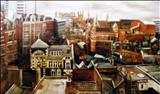 Charing Cross by Marc Heaton, Painting, Oil on canvas