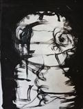 Child by Marc Heaton, Drawing, Block printing water colour on paper