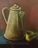 Coffee Pot by Marc Heaton, Painting, Oil on canvas