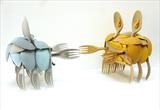 Crabs by Marc Heaton, Sculpture, plastic Knife spoons&forks