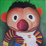 Earnie Soft Toy by Marc Heaton, Painting, Oil on canvas