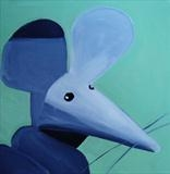 Finger Mouse by Marc Heaton, Painting, Acrylic on canvas