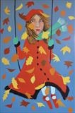 First Day of Autumn by Marc Heaton, Painting, Commercial paint pencil on wood