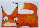 Foxy by Marc Heaton, Painting, Acrylic,ink,pencil,pen on Paper