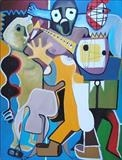 Fun Loving and Sociable by Marc Heaton, Painting, Oil on canvas