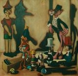 Gathering by Marc Heaton, Painting, Oil on canvas