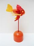 Goldfish by Marc Heaton, Sculpture, Found Beach Plastic