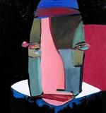 Head by Marc Heaton, Painting, Oil on Wood