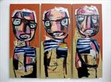Heads by Marc Heaton, Painting, Oil on Board