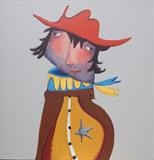 Howdy Partner by Marc Heaton, Painting, Commercial paint pen pencil on wood
