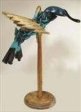 Hummingbird by Marc Heaton, Sculpture, Wood