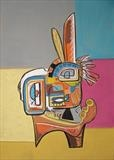 Indian by Marc Heaton, Painting, Pastel on Board