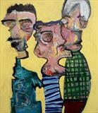 Lads by Marc Heaton, Painting, Oil on Wood