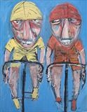 Le Tour by Marc Heaton, Painting, Oil Pastel on Board