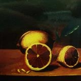 Lemon by Marc Heaton, Painting, Oil on canvas