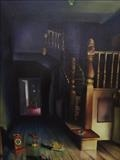 Lights out by Marc Heaton, Painting, Oil on canvas