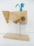 Little whale by Marc Heaton, Sculpture, Wood&Brass& Comb