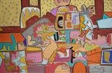 Living Room 1982 by Marc Heaton, Painting, Pastel on Board