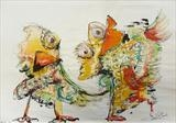 Mad Birds by Marc Heaton, Drawing