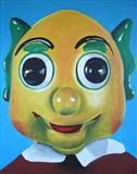 Mr Turnip by Marc Heaton, Painting, Acrylic on canvas