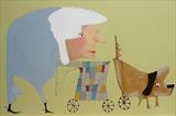 Mrs Lewis Shopping Day by Marc Heaton, Painting, Commercial paint on wooden panel