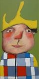 My Yellow Hat by Marc Heaton, Painting, Commercial paint on wooden panel