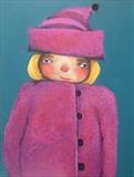 My new Hat and Coat by Marc Heaton, Painting, Commercial paint pencil on wood