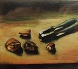 Nut cracker by Marc Heaton, Painting, Oil on Board