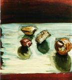 Nuts by Marc Heaton, Painting, Oil on Board