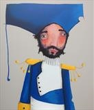 O Captain! My Captain! by Marc Heaton, Painting, Commercial paint pen pencil on wood