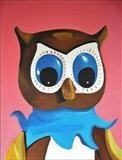 Owl by Marc Heaton, Painting, Oil and Acrylic on Canvas