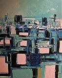 Paris roftops by Marc Heaton, Painting, Oil on canvas