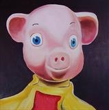 Perky Glove puppet by Marc Heaton, Painting, Oil on Wood