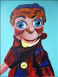 Puppet21 by Marc Heaton, Painting, Acrylic on canvas
