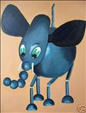 Puppet26 by Marc Heaton, Painting, Acrylic on canvas
