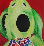 Roobarb Pedigree Toys by Marc Heaton, Painting, Oil on Wood