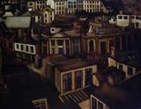Rooftops by Marc Heaton, Painting, Oil on canvas