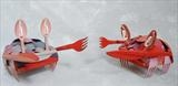 Small crabs by Marc Heaton, Sculpture, Plastic Forks knifes&spoons oil paint