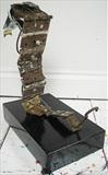 Snake by Marc Heaton, Sculpture, Metal,hinges,wire