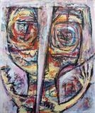Splintered Head by Marc Heaton, Painting, Oil on Wood