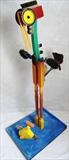 The Fish that got away by Marc Heaton, Sculpture, Wood,paint brushes&wood plane