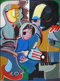 The Music Man by Marc Heaton, Painting, Oil on canvas