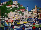 Torquay Harbour by Marc Heaton, Painting, Acrylic on canvas