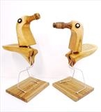 Tree Birds by Marc Heaton, Sculpture, Shoe trees,knitting needles&wood