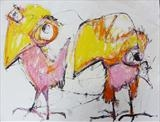 Two Birds by Marc Heaton, Drawing